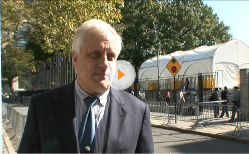 Interview with Dr. Richard Marlink outside the UN